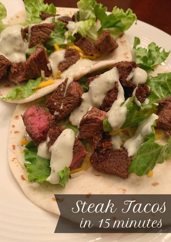 Sirloin Steak Tacos: Dinner in 15 Minutes