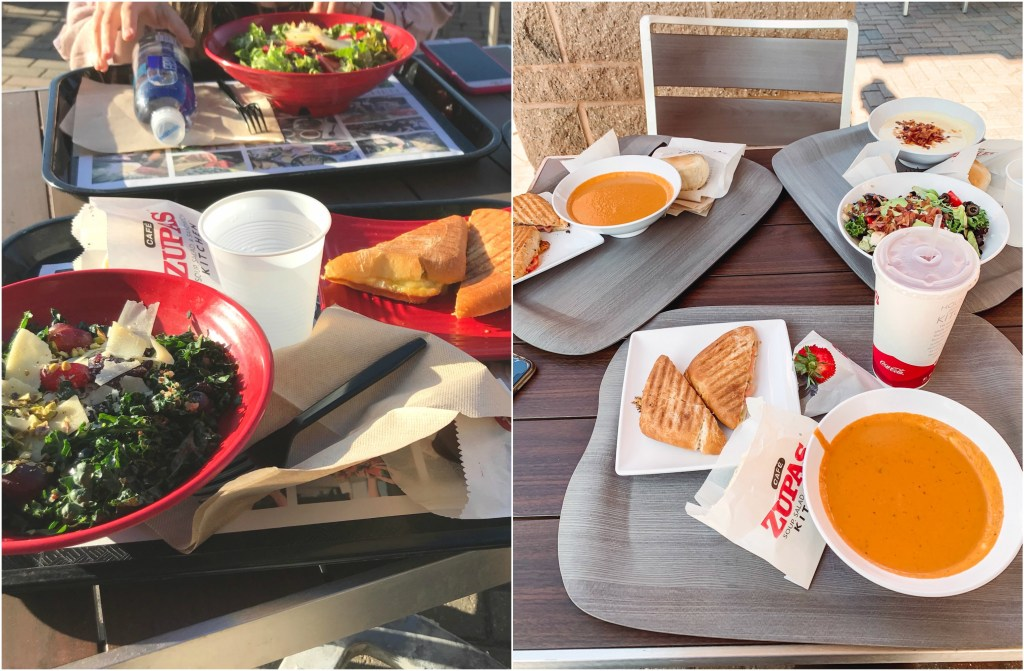 Cafe Zupas is a restaurants that serves fresh and delicious food. They have soups, salads, sandwiches and delicious infused beverages.