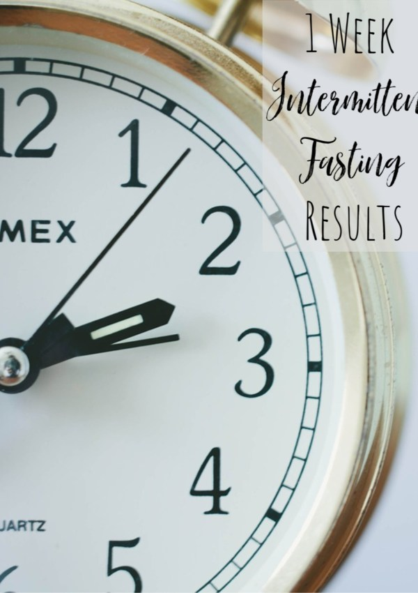 I Gave Intermittent Fasting a Try.  Here are My Results.