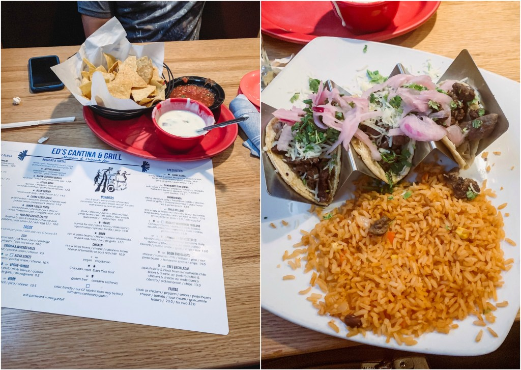Ed's Cantina & Grill for Mexican Food in Estes Park.