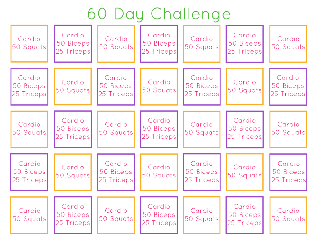 What better time to do a fitness challenge than during this period of social distancing!? Join me on this 60 day fitness challenge!