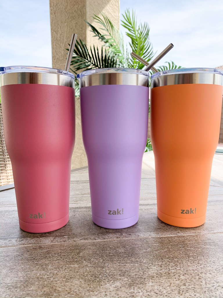 These tumblers are from Target and come in 9 different colors! You can also find straws tall enough on Amazon!