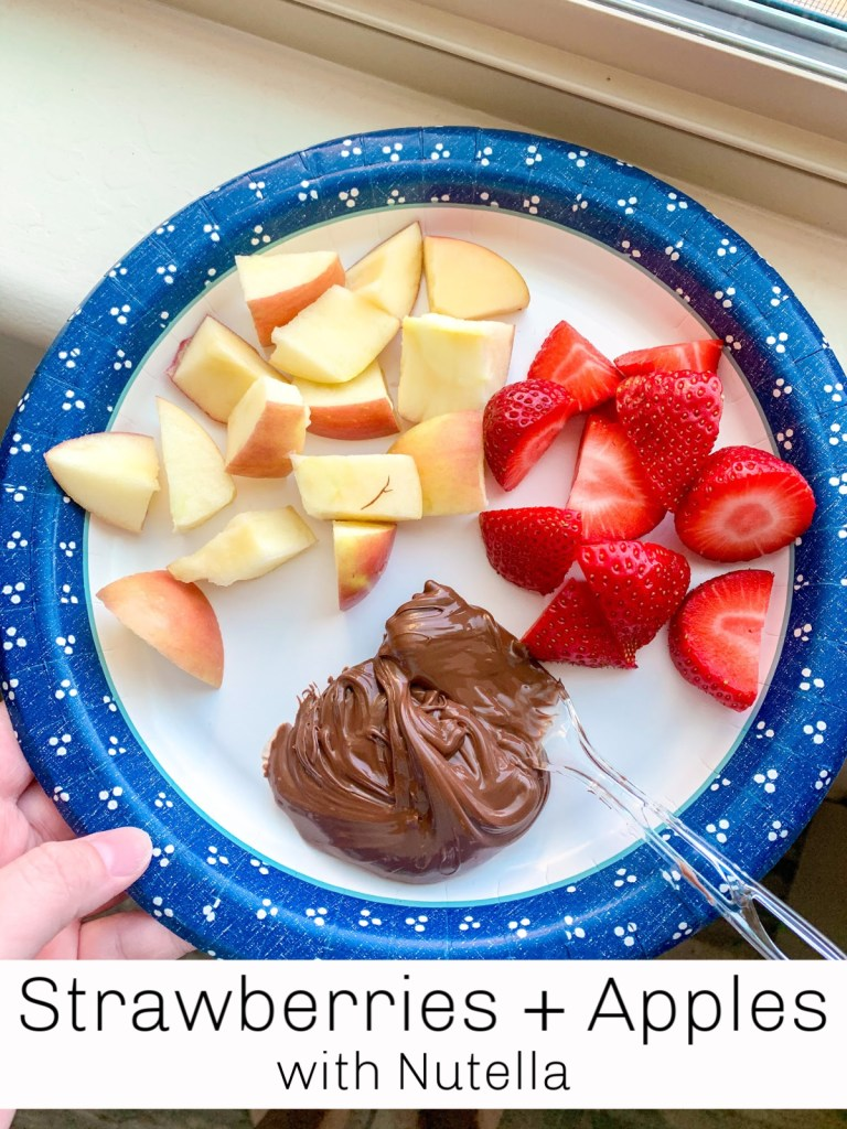 Chocolate or Nutella with fresh fruit makes for the most perfect healthier dessert option! It totally kicks your sweet craving to the curb.