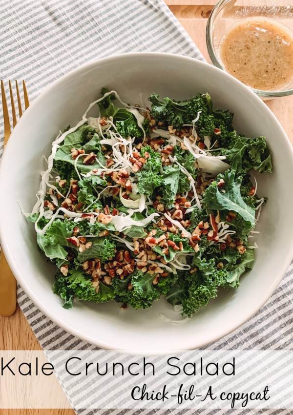 If you've had the kale crunch side at Chick-Fil-A you know why I had to recreate this delicious salad at home. So simple and healthy!