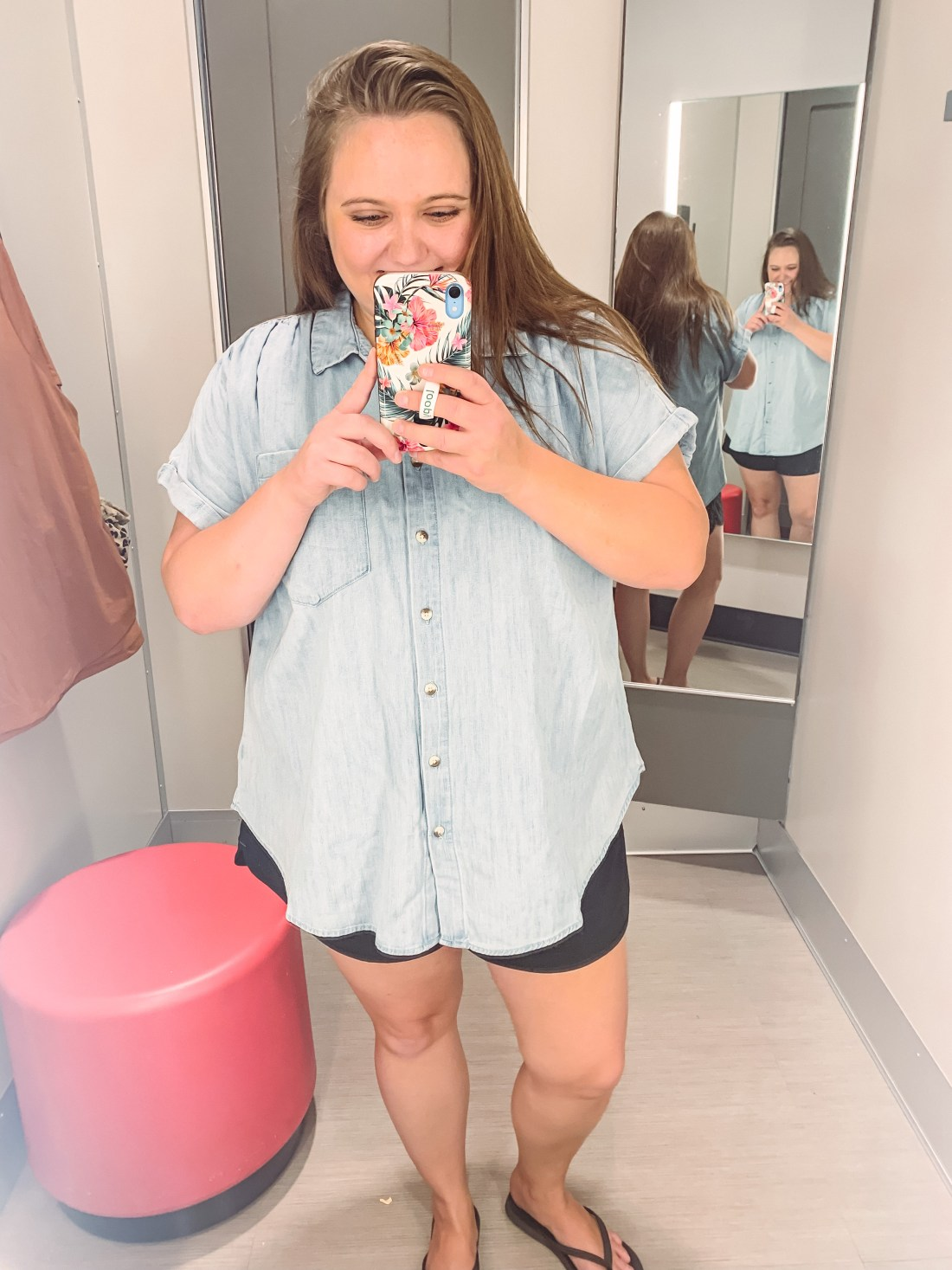 Here are a couple casual plus size shirts from Target that I wanted to share!They always have affordable basic t-shirts!