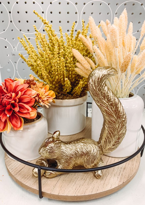 How cute are these Fall decor pieces from Target!? Also, I'm obsessed with this adorable gold squirrel figurine!