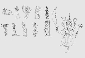Queen of Hearts Character Sketches