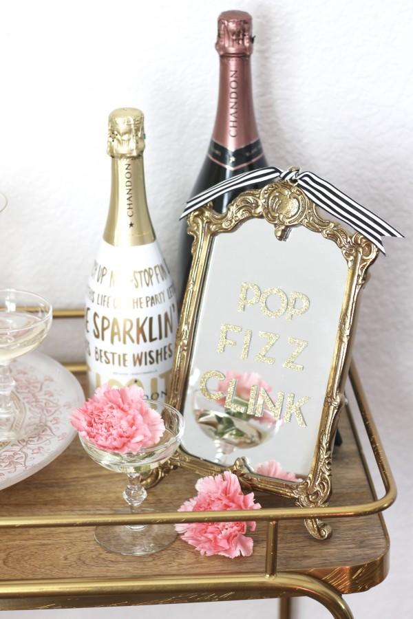Romantic Valentine's Day Bar Cart