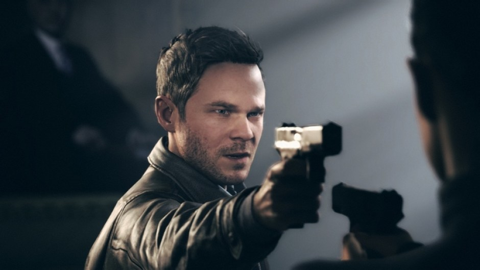 Jack pointing a gun at another character