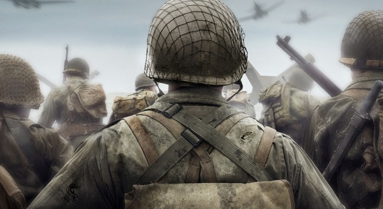 Call of Duty: WW2 - Back of a video game soldier