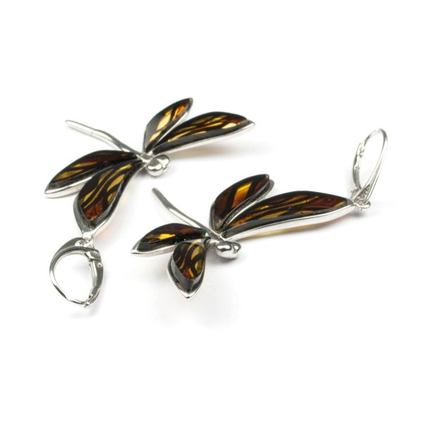 silver-earrings-with-natural-baltic-amber-dragonfly-3