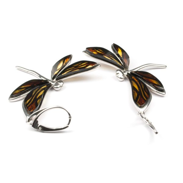 silver-earrings-with-natural-baltic-amber-dragonfly