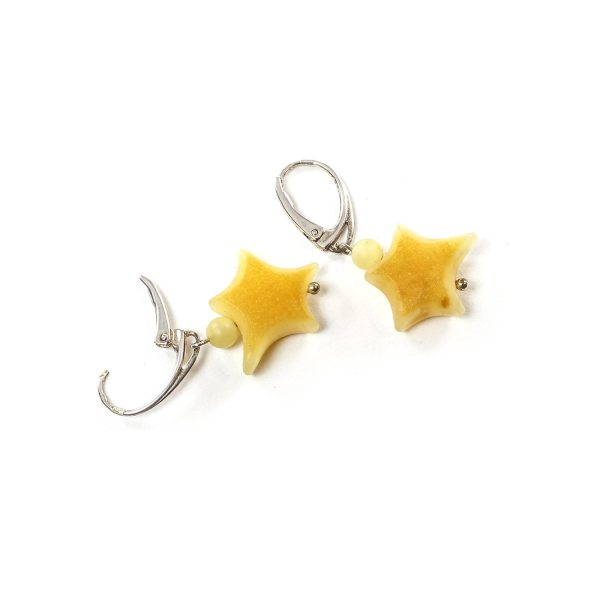 silver-earrings-with-natural-baltic-amber-stars