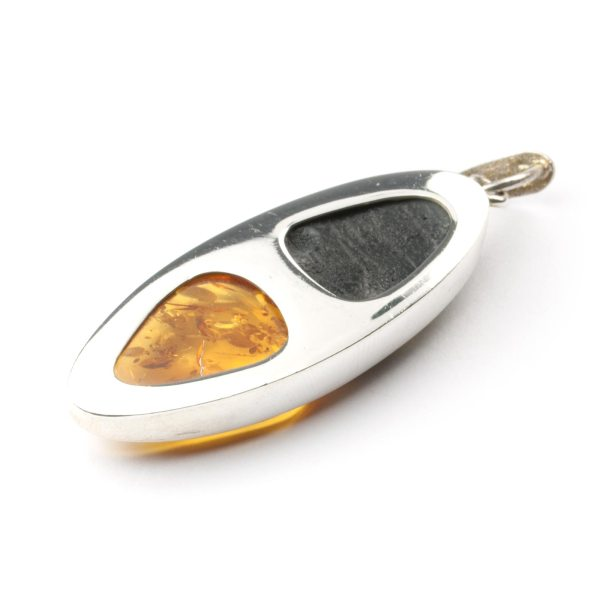silver-pendant-with-two-amber-pieces-down-view