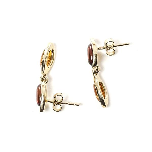 gold-earrings-14k-with-natural-baltic-amber-charm
