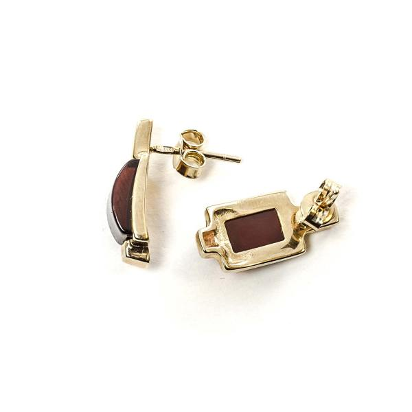 gold-earrings-14k-with-natural-baltic-amber-classic-cherry