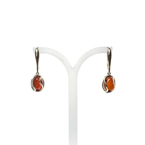 gold-earrings-14k-with-natural-baltic-amber-orange-cherry-1