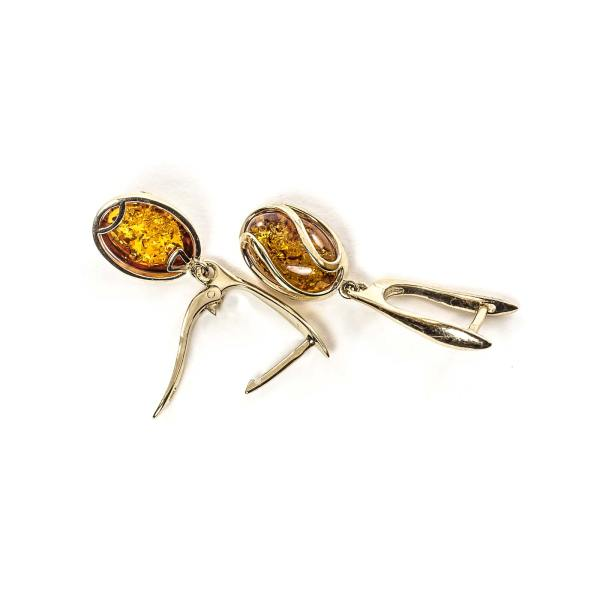 gold-earrings-14k-with-natural-baltic-amber-orange
