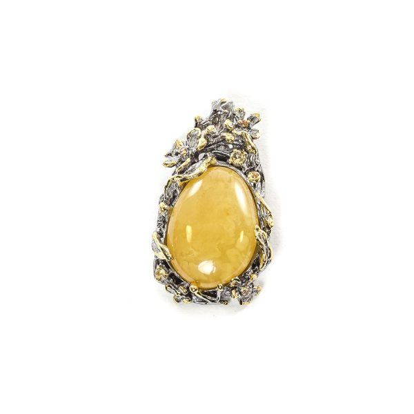 silver-pendant-with-natural-baltic-amber-lumiere