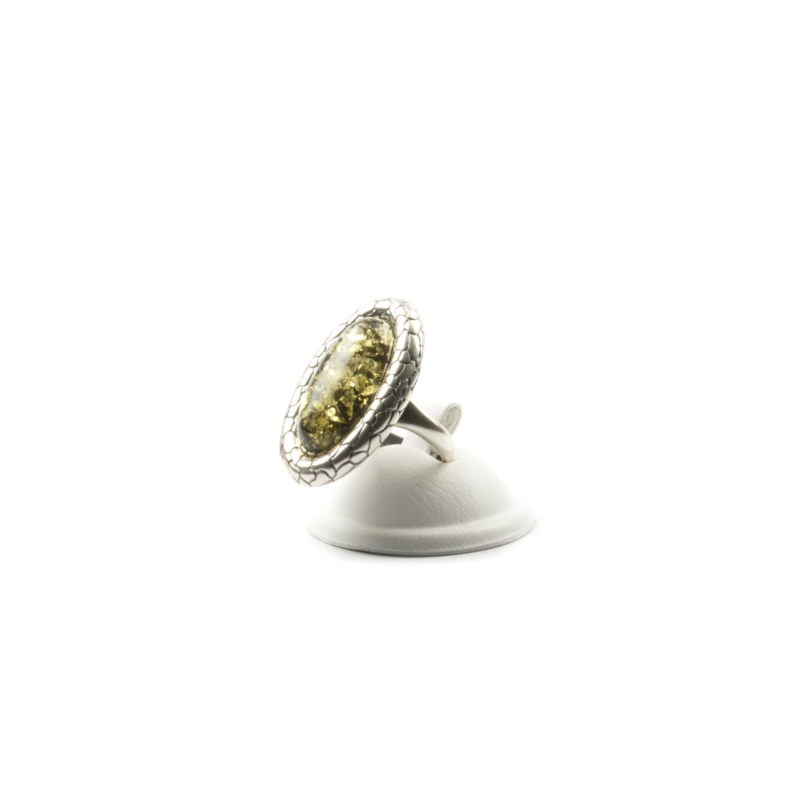 2d5e8ea46 Silver Ring with Natural Baltic Amber