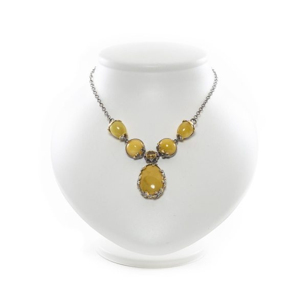 silver-necklace-with-gold-plated-silver-pendant-with-amber-stone-milfay