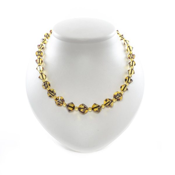 faceted beads necklace