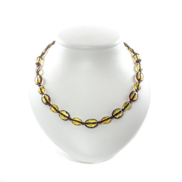 faceted amber necklace nemo