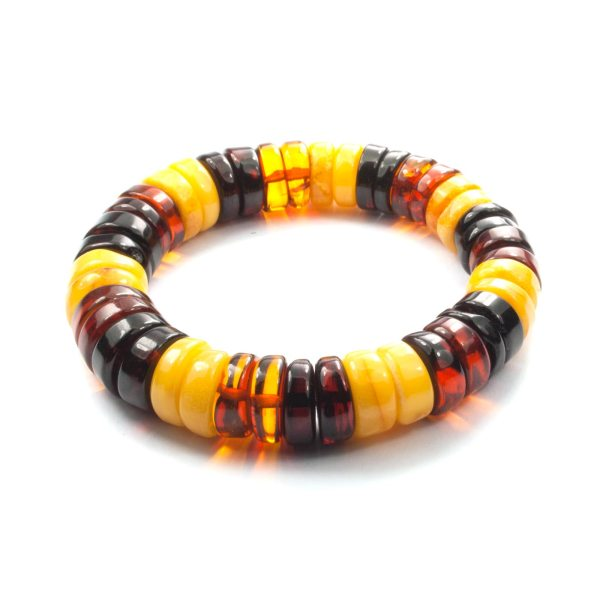 natural amber beads bracelet for men