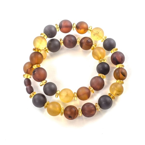 unpolished amber necklace for woman
