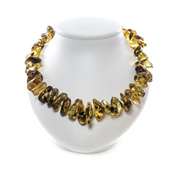 Amber Necklace made from Natural Green Amber
