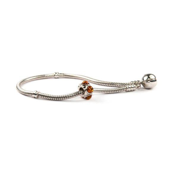 Siver Charm Pandora Style on Bracelet