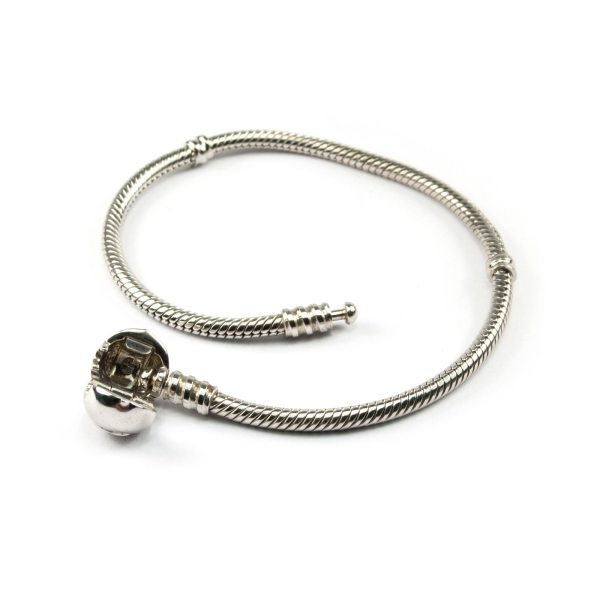 Silver Bracelet for Pandora Style Beads Unlocked