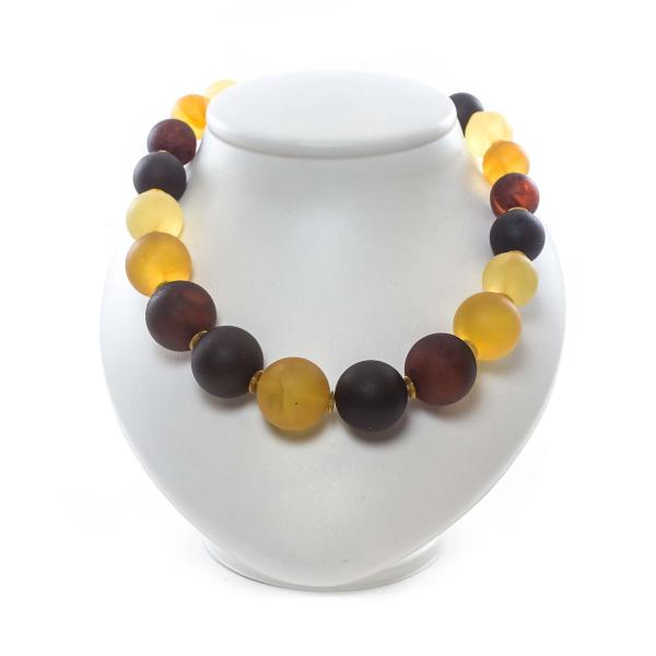 woman amber necklace large beads