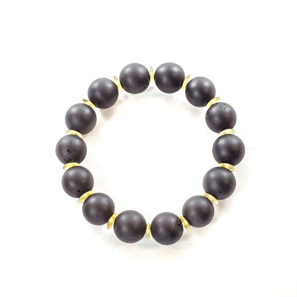 Round Beads Solid Cherry Bracelet