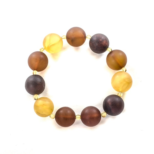 Unpolished Colored Amber Bracelet Top