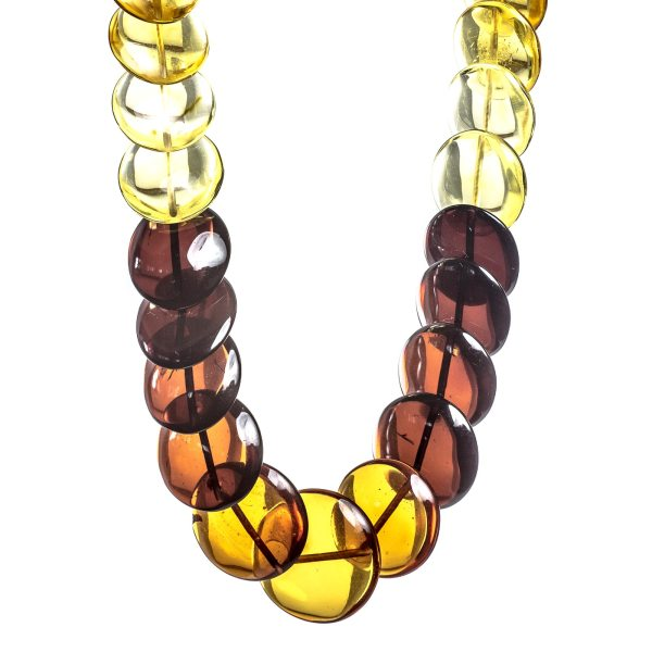 Natural Amber Necklace Rainbow Close View