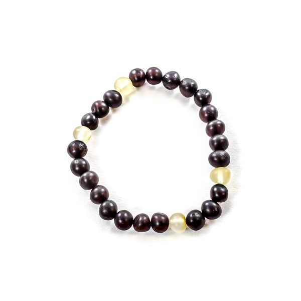 Cherry and Yellow Beads Amber Bracelet Top