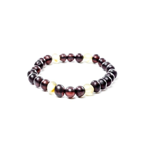 Cherry and Yellow Beads Amber Bracelet