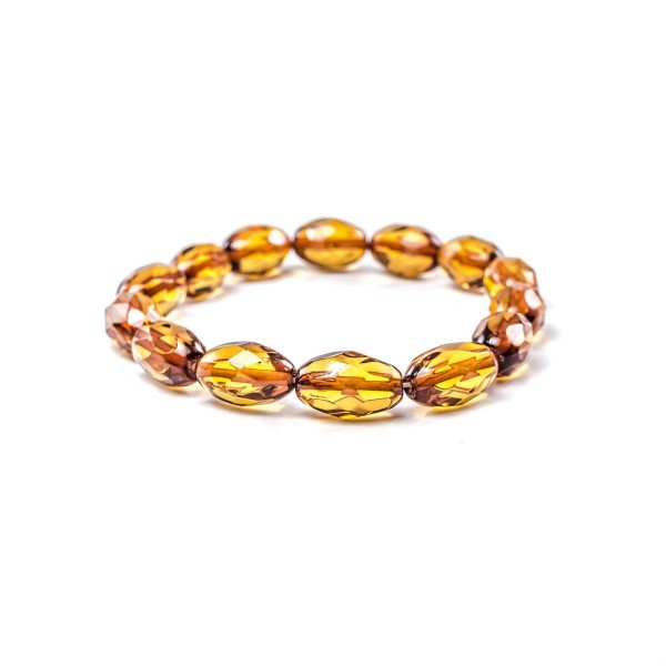 Faceted Cognac Bracelet