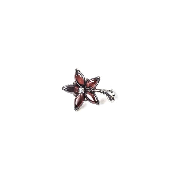 925 Sterling Silver Brooch Flower