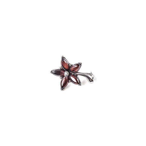 925 Sterling Silver Brooch Flower