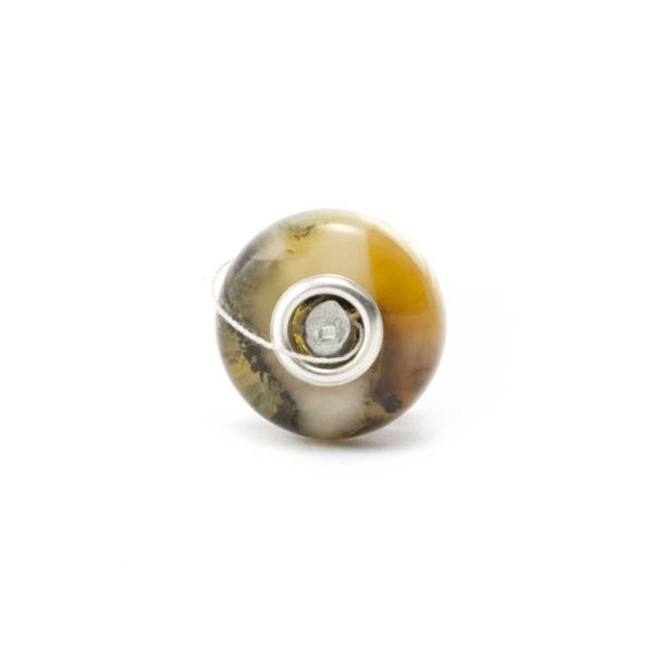 Mixed Color Amber Charm Bead
