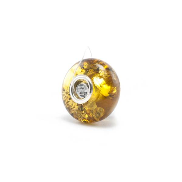Charm Green Amber Bead Side