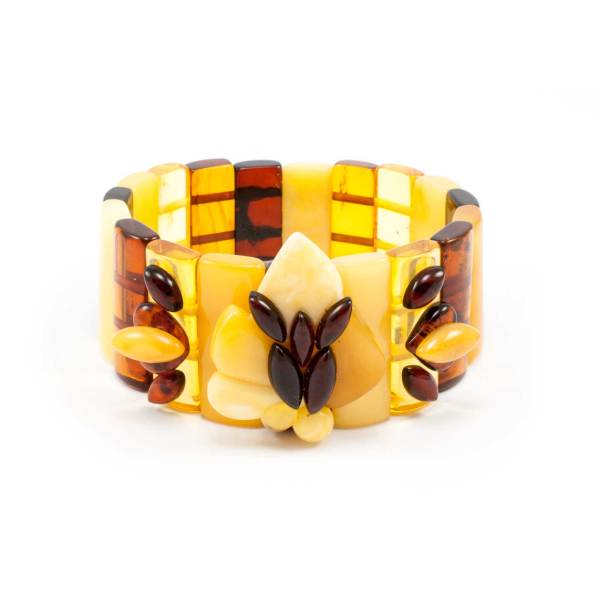 Pure Amber Color Bracelet Front
