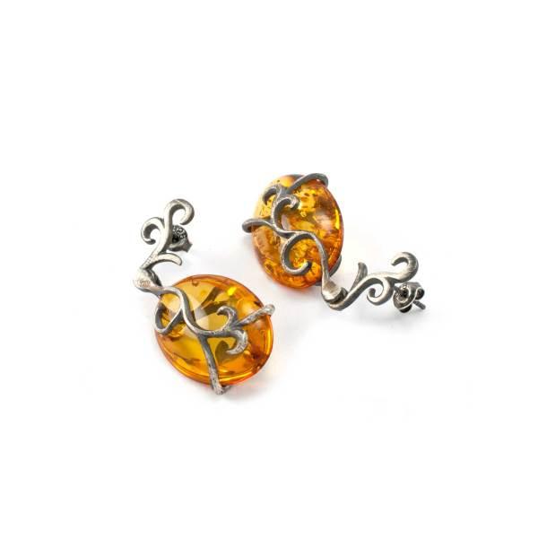 Vinatage Style Azure Earrings 1