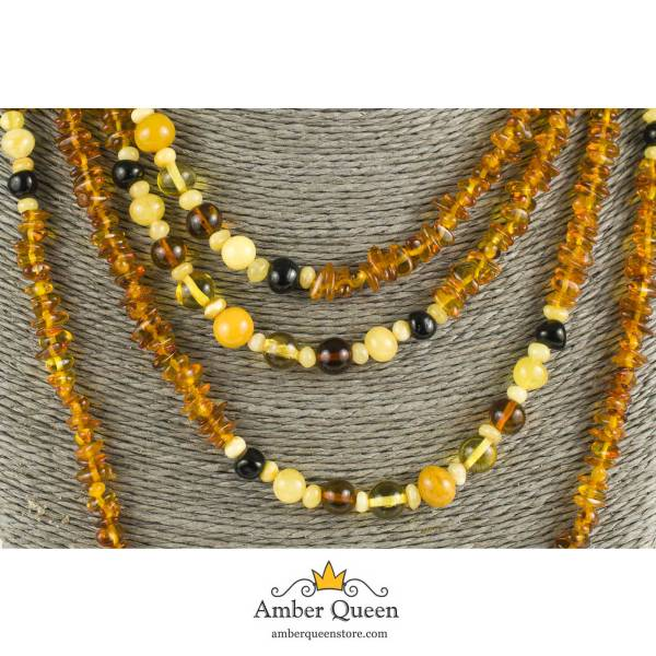 Long Amber Necklace Close