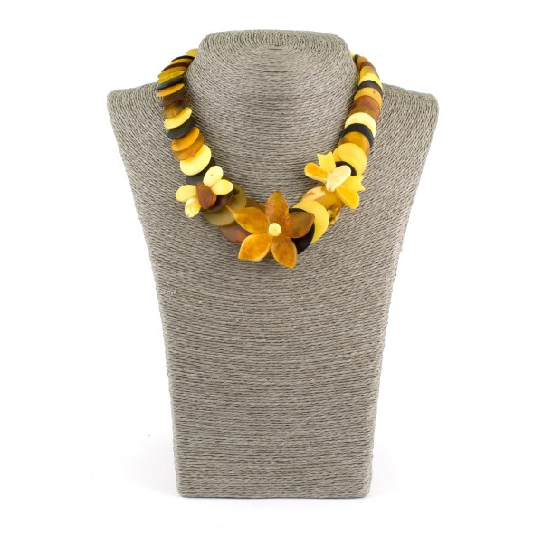Summer Necklace from Unpolished Amber