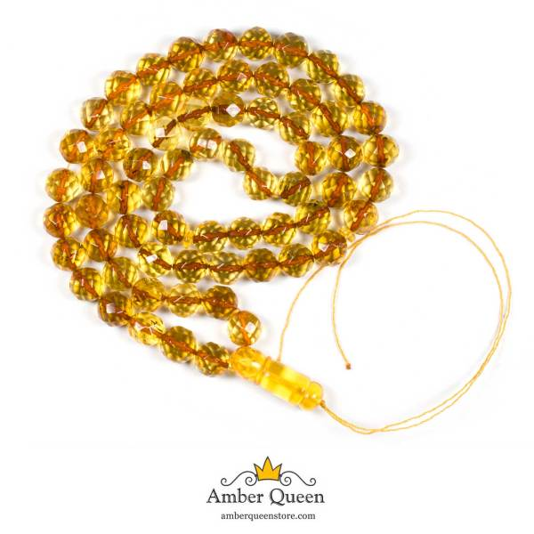 Faceted Beads Lemon Rosaries