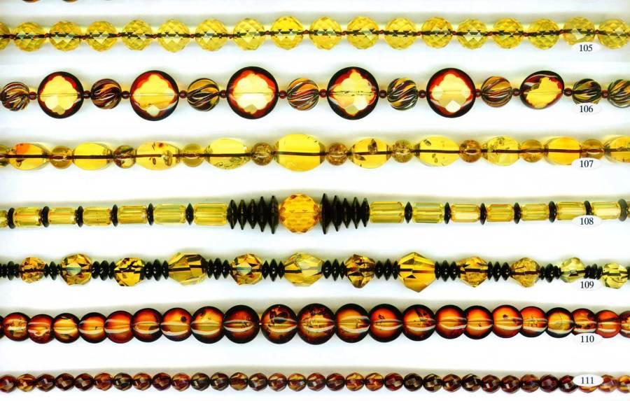 104-111 gintariniai karoliai