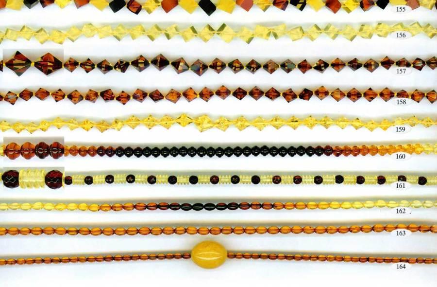 155-164 gintariniai karoliai
